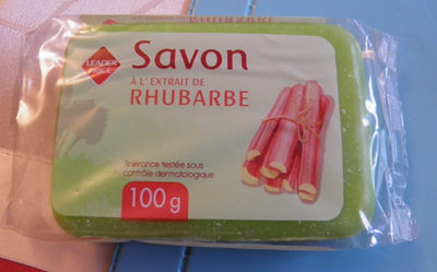Savon à l'extrait de rhubarbe Leader Price - Produit - fr