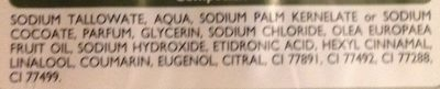 Savon de Marseille enrichi à l'huile d'olive - Ingredients - fr