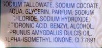 Savon à l'huile d'amande douce - Ingredients - fr