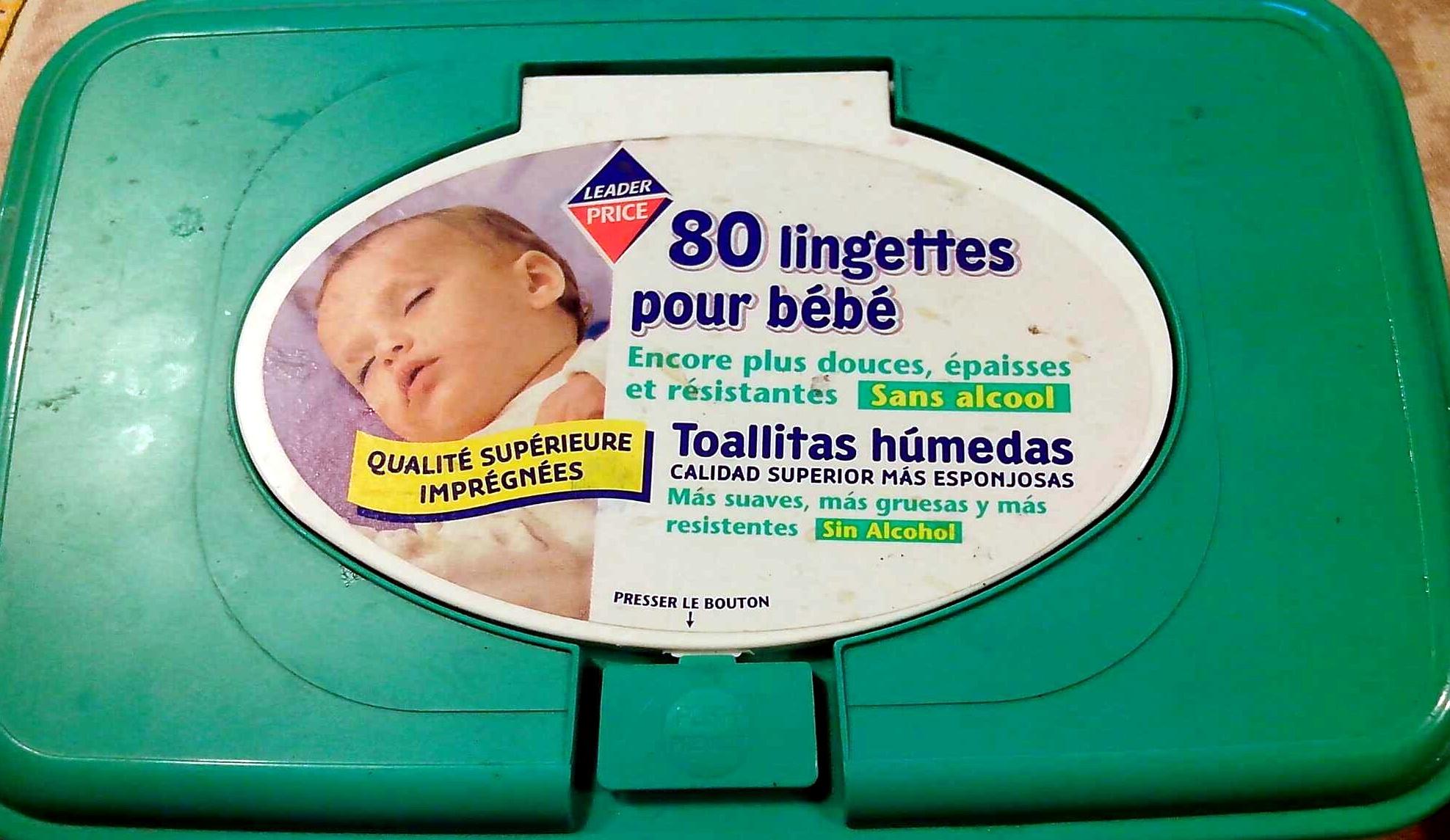 80 lingettes pour bébé - Product - fr