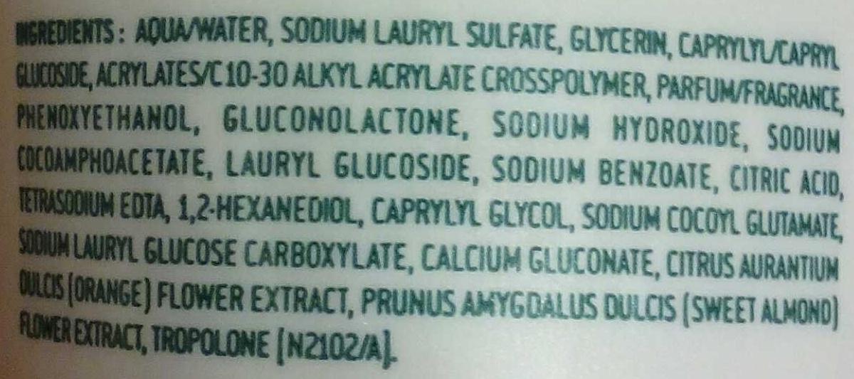 Gel douche fondant - Ingredients - fr