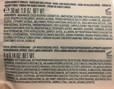 Nuxe Kit Découverte Rêve De Miel Crème Mains Et Ongles 30ML + Stick Lèvres Hydratant - Ingrédients