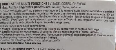huile prodigieuse - Ingredients - fr