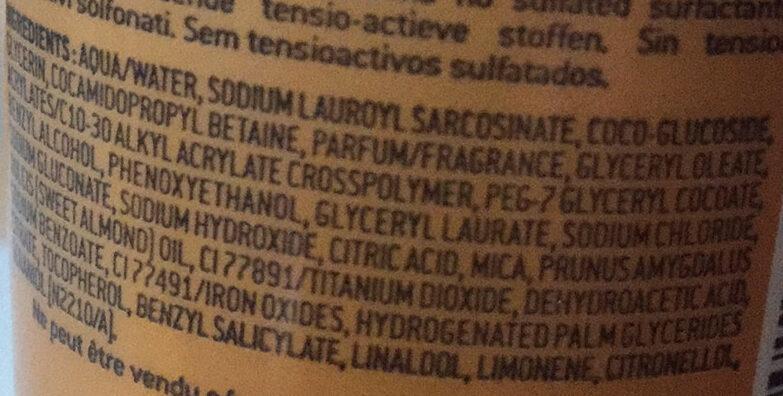 Prodigieux - huile de douche - Ingredients - fr