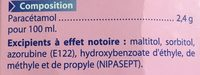 Paracétamol - Ingredients - fr