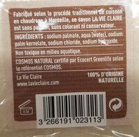 Savon de Marseille - Inhaltsstoffe - fr