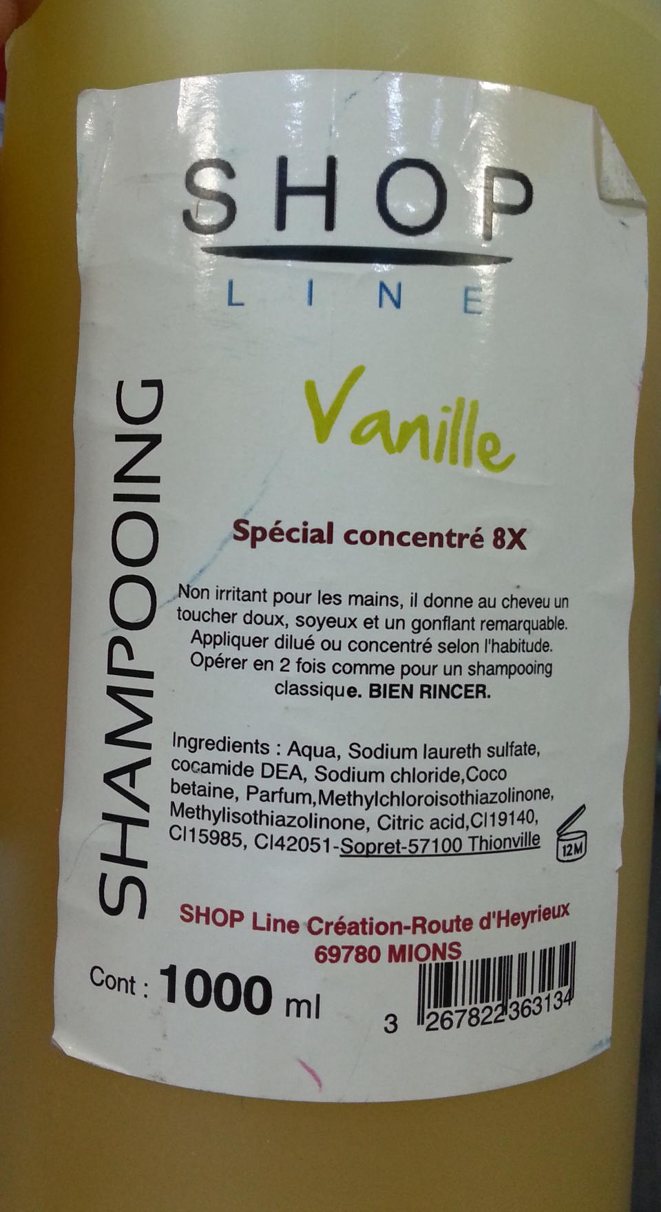 Shampooing Vanille - Product - fr