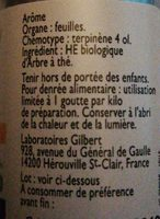 Huile Essentielle Bio Arbre A Thé - Ingredients