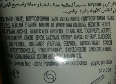 Ictyane Crème Mains - Ingredients - fr