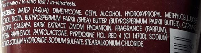 Après shampooing fortifiant et stimulant - Ingredients