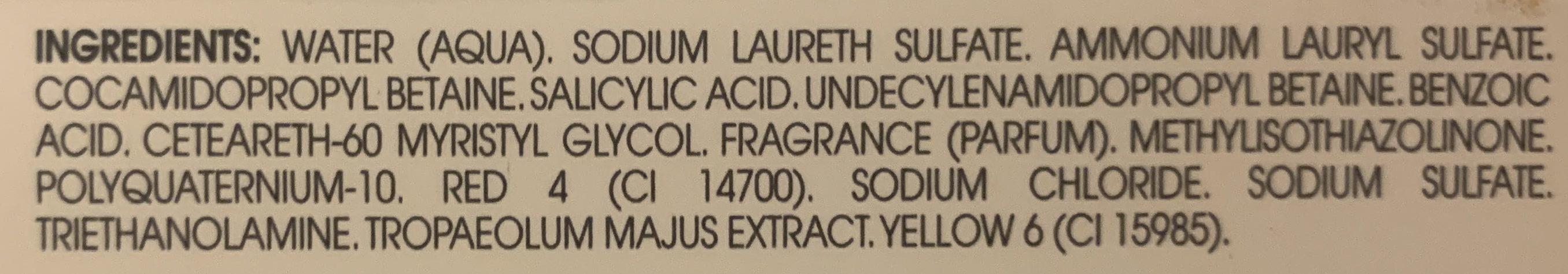 Antipelliculaire - Ingrédients