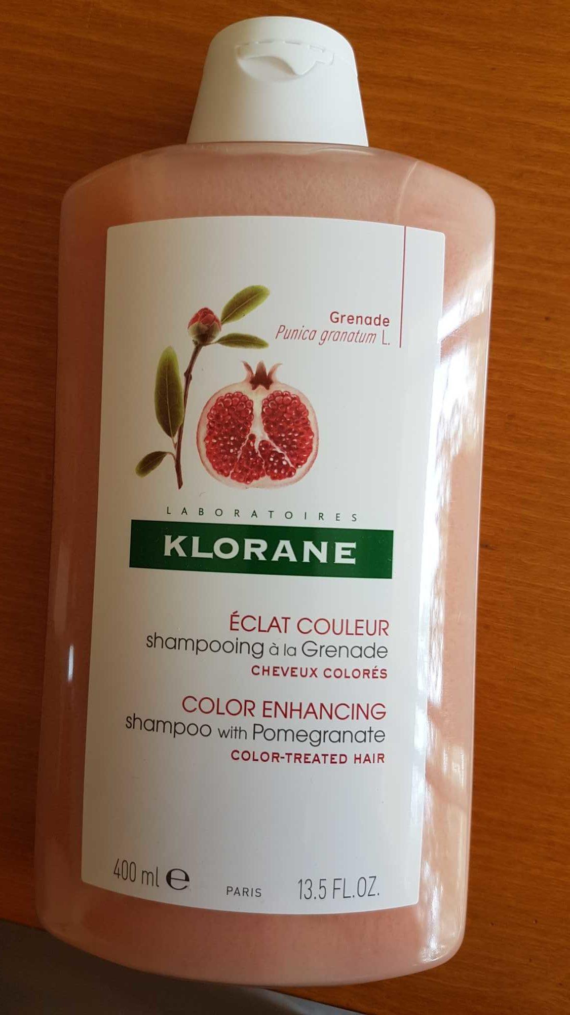 Eclat couleur : shampooing à la grenade cheveux colorés - Product - fr