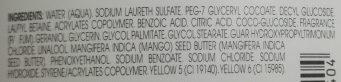 Shampooing Nutrition au beurre de mangue - Ingredients