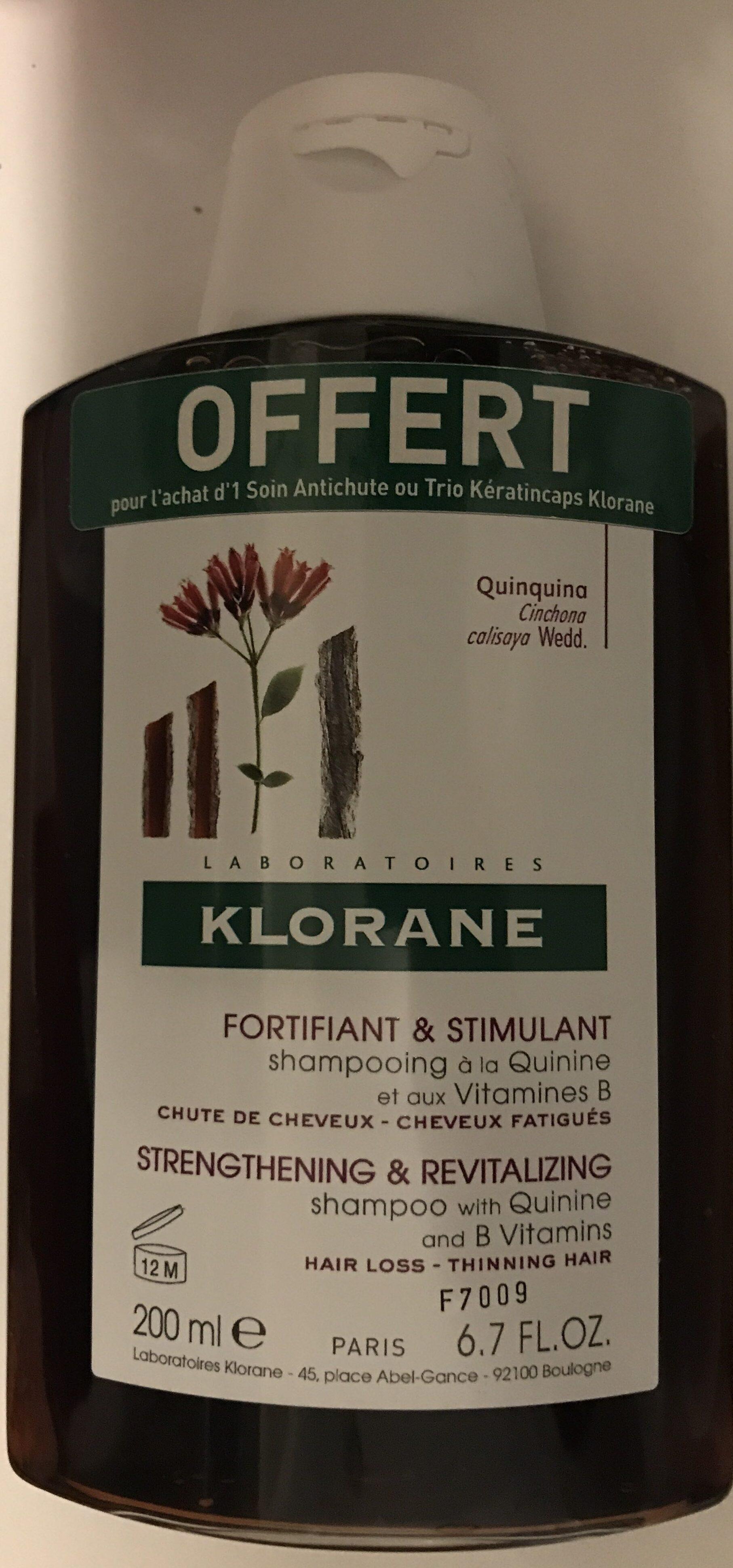 Fortifiant & Stimulant Shampooing à la Quinine et aux Vitamines B - Product