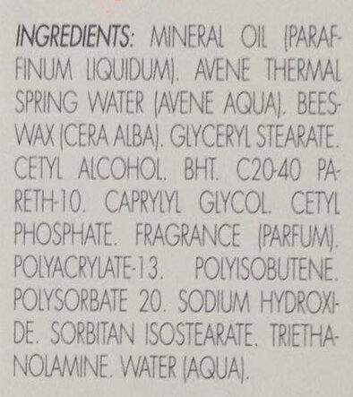 Cold Cream - crème - Ingredients - fr