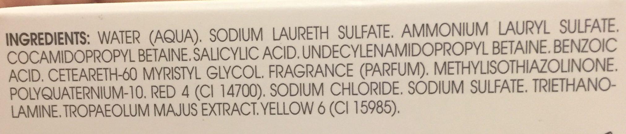Shampooing Antipelliculaire à L'extrait De Capucine - Ingrédients
