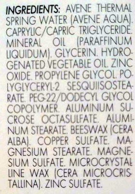 Cicalfate - Ingredients - fr