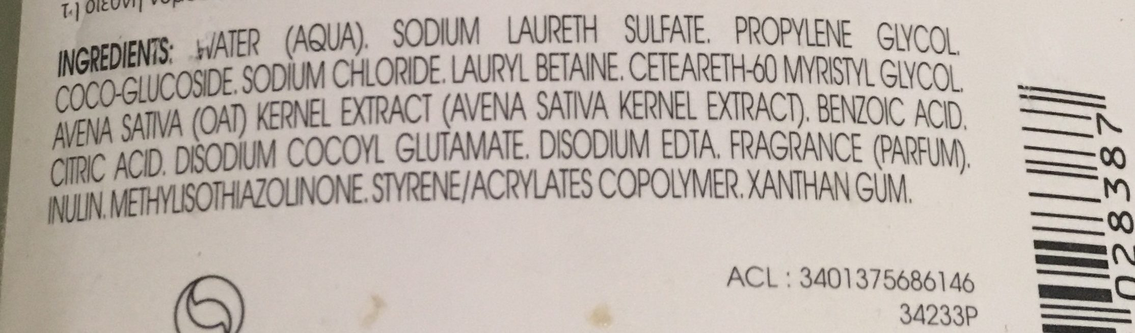 Extra-doux - Ingredients