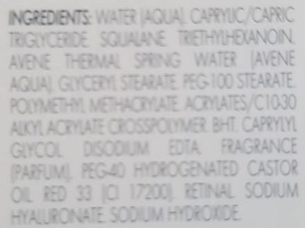 Eluage Crème anti-âge restructurant - Ingredients - fr