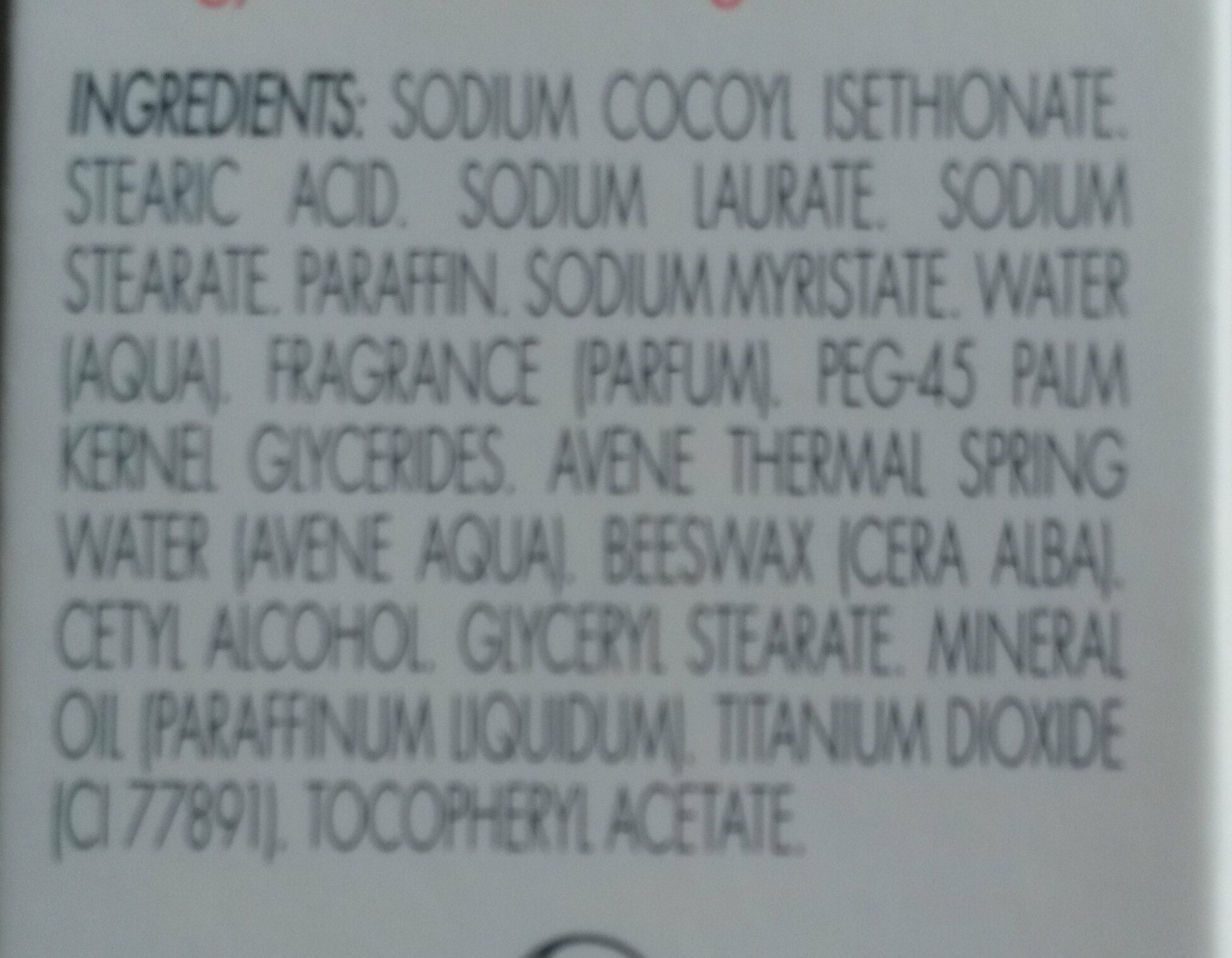 Cold Cream - Ingredients - fr