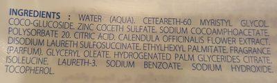 Klorane Bebe Gentle Foaming Gel Body And Hair 2X500ML (bath) - Ingrédients