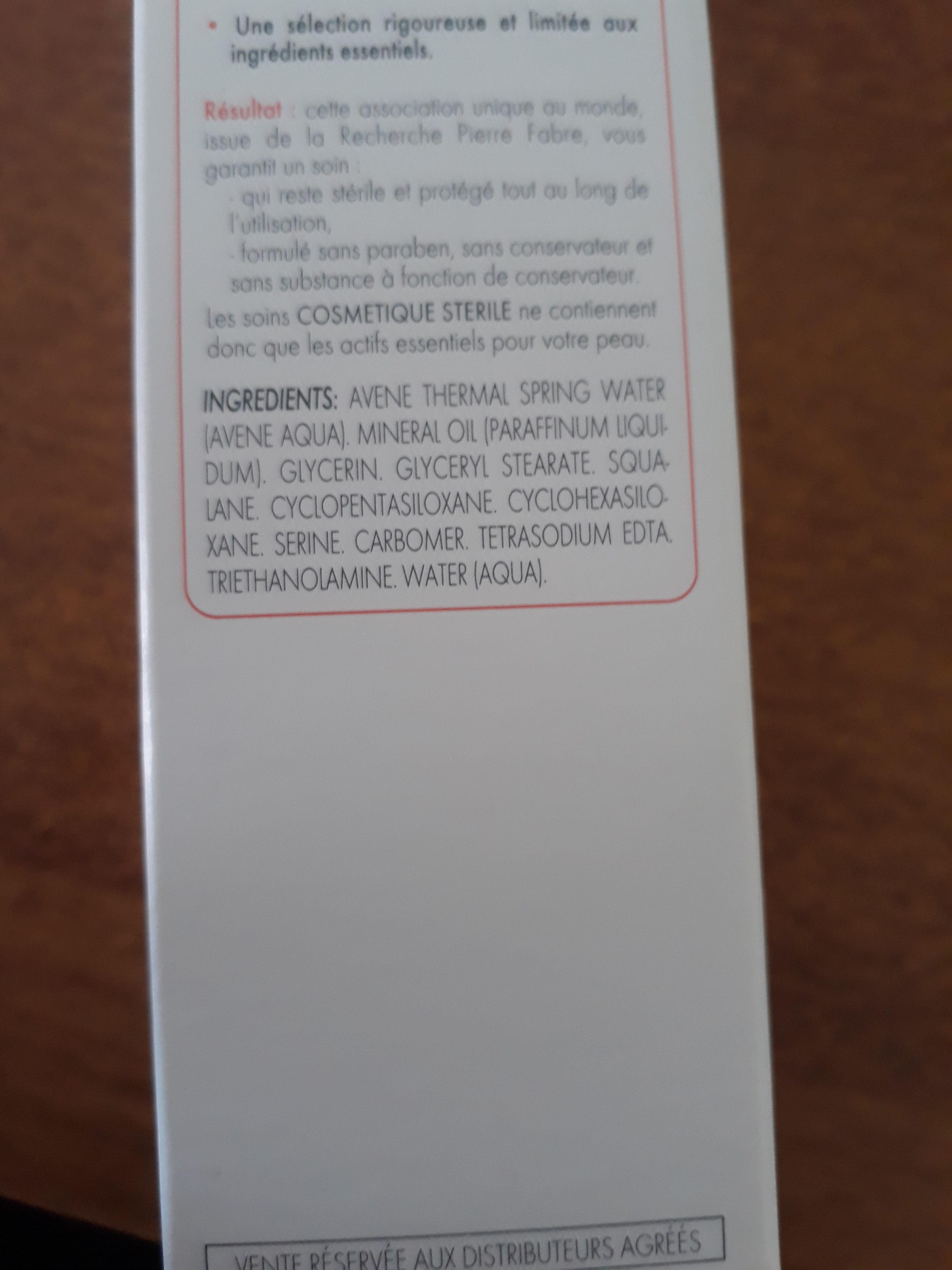 Crème peaux intolérantes - Ingrédients - fr