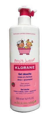 Klorane Bebe Petit Junior Shower Gel Hair And Body Raspberry - Product