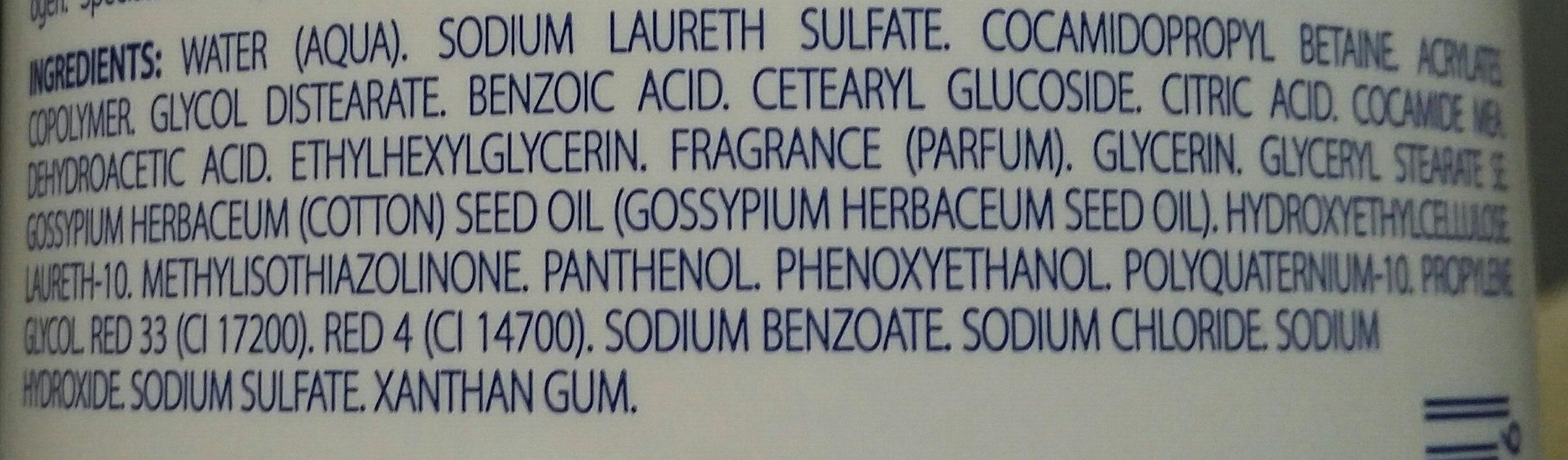 Gel douche Corps et Cheveux Doux Petit Junior - Ingredients