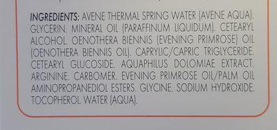 Avène Xeracalm A. d Crème Relipidante 200 ML - Ingredients