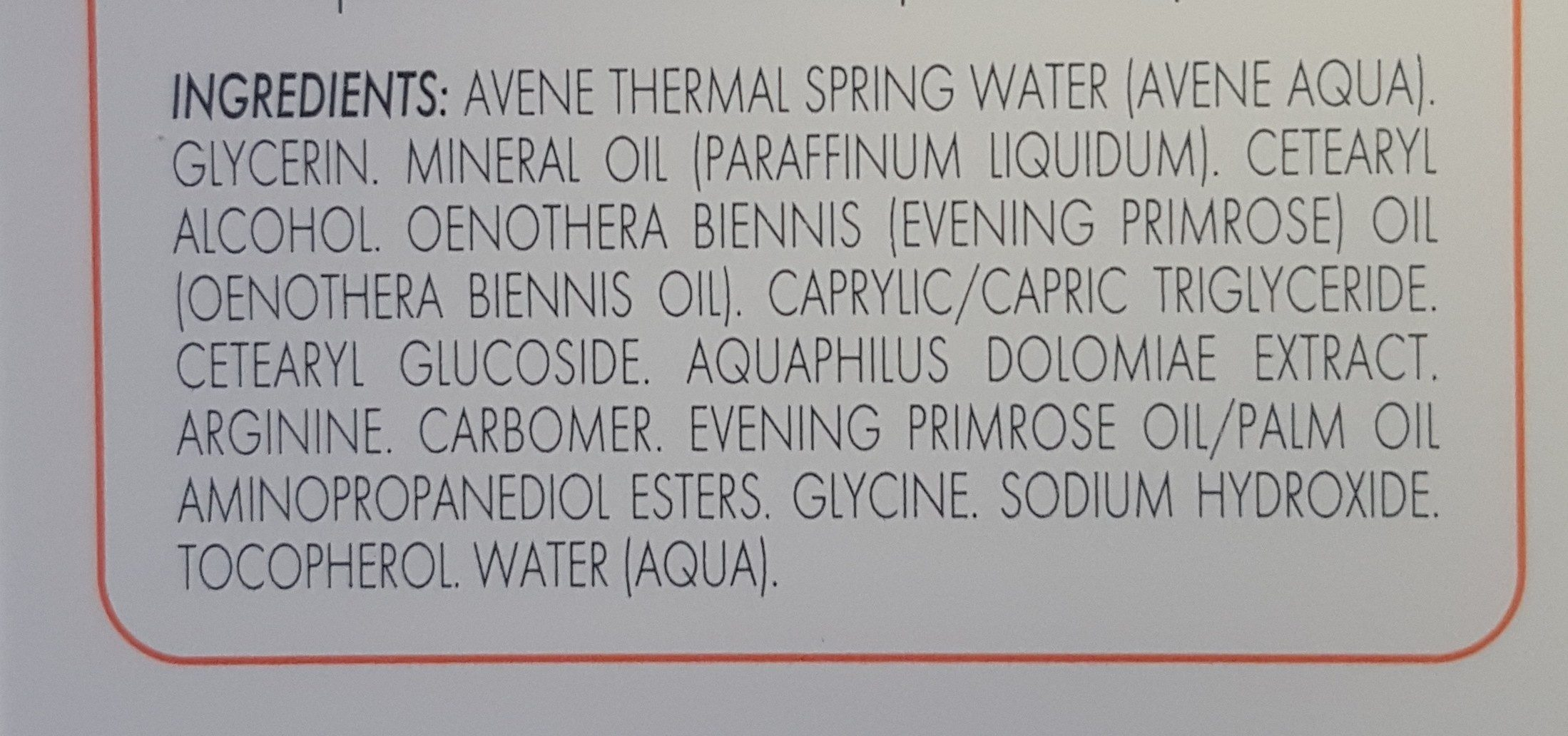XeraCalm A.D Crème relipidante - Ingredients - fr