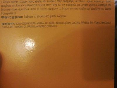 Bandes de cire froide à l'amande douce - Jambes - Product