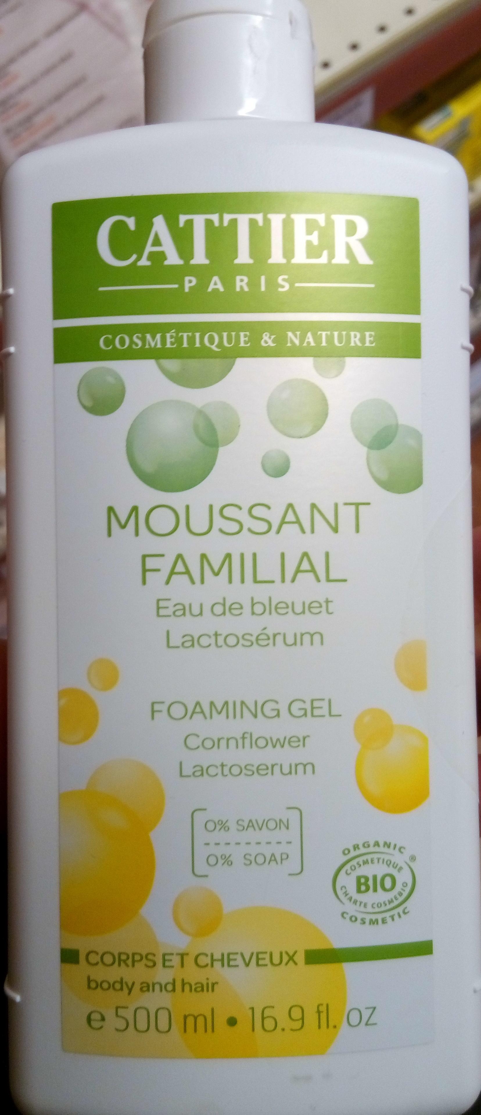 Gel moussant familial eau de bleuet lactosérum - Produit
