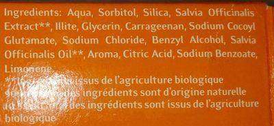 Dantargile - Ingredients