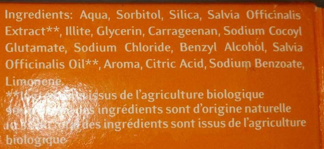 Dantargile - Ingredients - fr