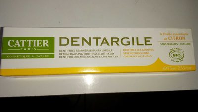 Dentargile Citron - 75 ML - Cattier - Product - fr