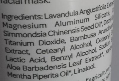 Gommage Argile - Argile blanche Aloe Vera - Ingredients