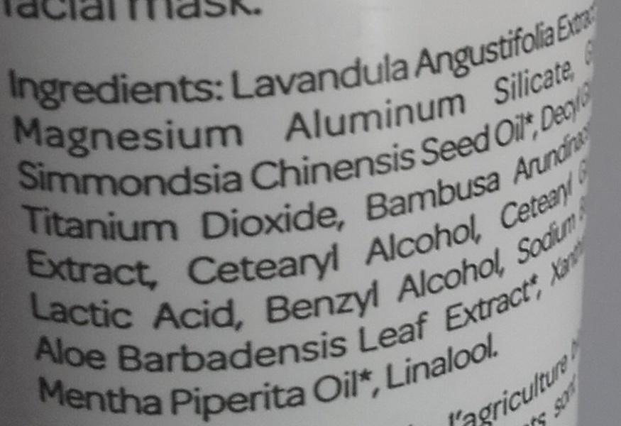 Gommage Argile - Argile blanche Aloe Vera - Ingrédients