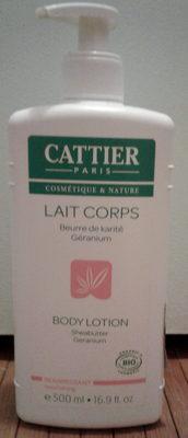 Lait corps beurre de karité géranium - Produit