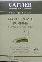 Argile Verte Surfine - 1 KG - Cattier - Product