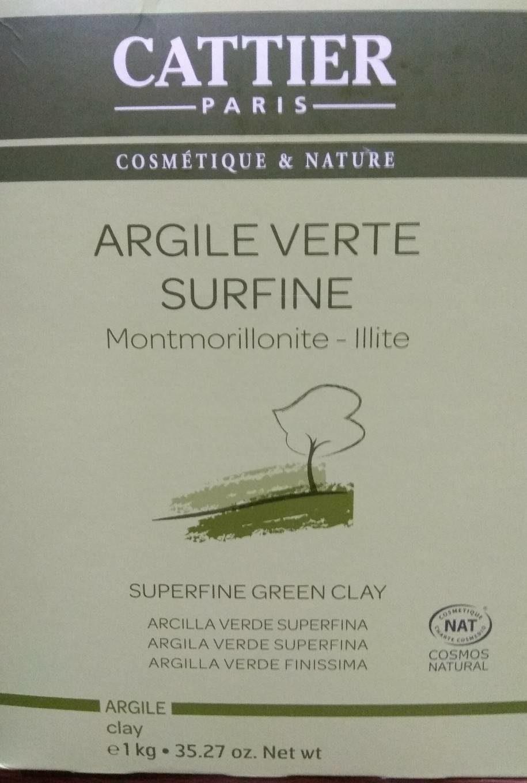 Argile Verte Surfine - 1 KG - Cattier - Product - fr