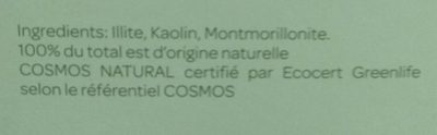 Argile Verte Surfine - 1 KG - Cattier - Ingredients
