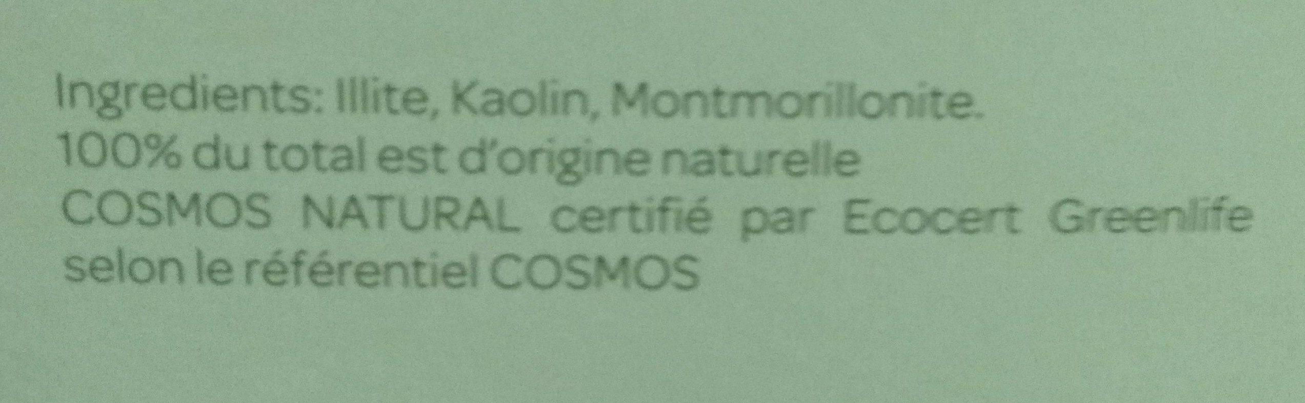 Argile Verte Surfine - 1 KG - Cattier - Ingredients - fr