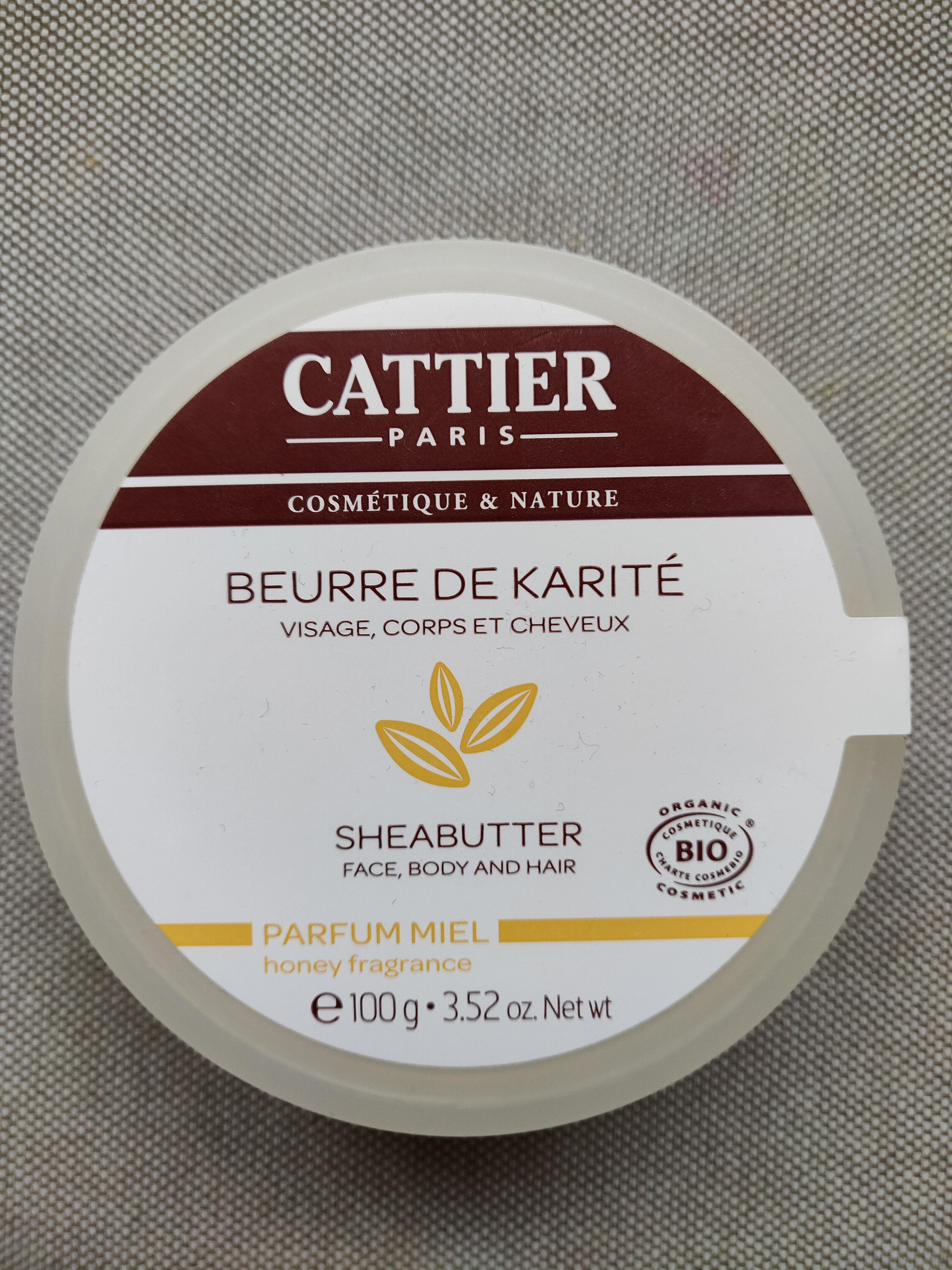 Beurre De Karité Parfum Miel Bio - 100 G - Cattier - Product - en