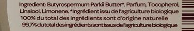 Beurre De Karité Parfum Miel Bio - 100 G - Cattier - Ingrédients