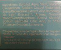 Dentifrice Enfants 7 Ans Et + Menthe Bio - 50 ML - Cattier - Ingrédients