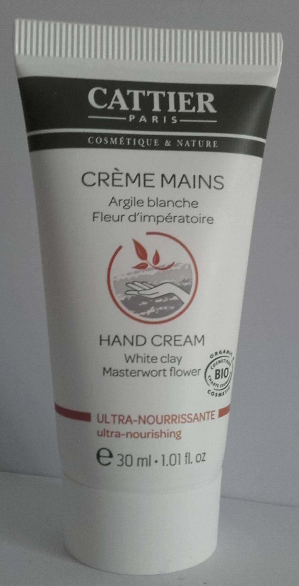 Crème mains Argile blanche Fleur d'impératoire - Produit