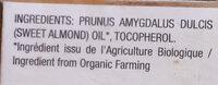 Huile d'amande douce - Ingredients