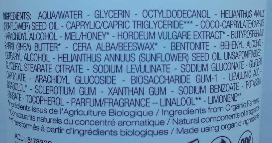 Nectar de miel - Ingredients