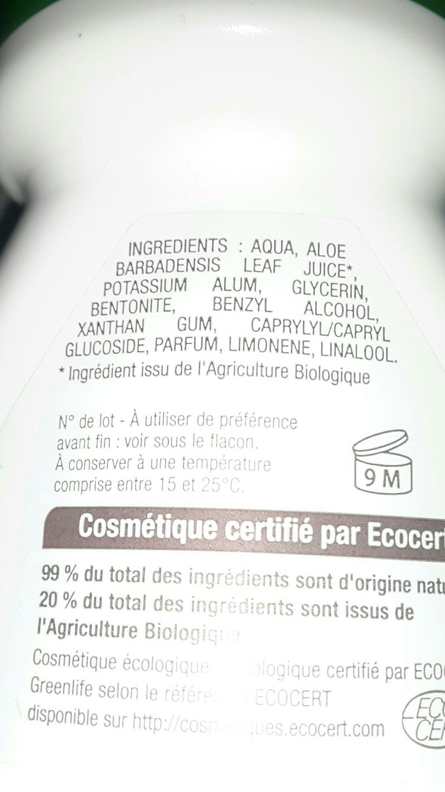 Biophy Fleur De Lin Feminine Deodorant Roll-on - Ingredients - fr