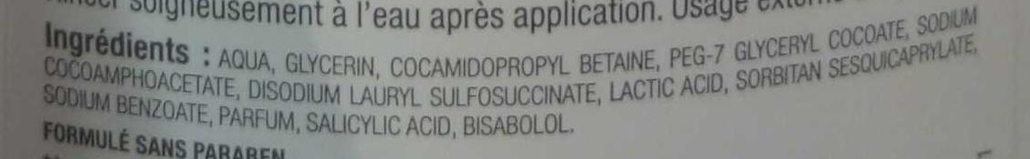 Gel apaisant toilette intime - Ingredients - fr